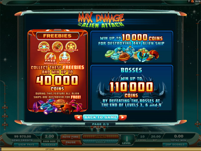 Max Damage and the Alien Attack Online Slot Game