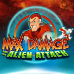 Max Damage and the Alien Attack Logo